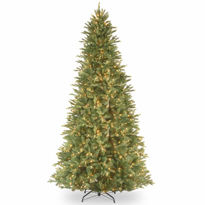 12 Ft. Feel Real Tiffany Fir Slim Christmas Tree w/ 1200 Clear Lights