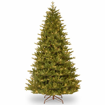 7 1/2 Ft. Feel Real Woodward Fir Christmas Tree with 750 Clear Lights