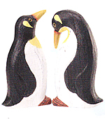 Set of Two Wooden Penguins