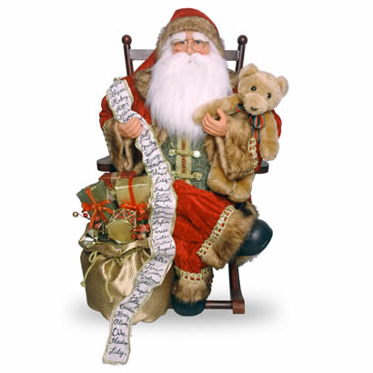 36 In. Santa on Rocking Chair Christmas Decoration