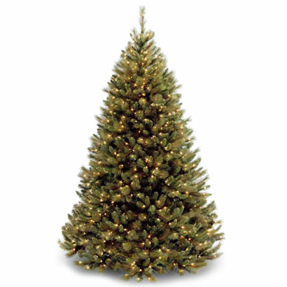 7 1/2 Ft. Rocky Ridge Pine Christmas Tree with 750 Clear Lights