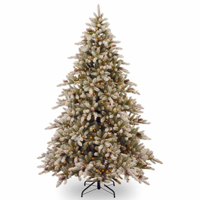 9 Ft. Snowy Concolor Fir Christmas Tree with 950 Clear Lights