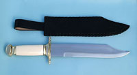 Maritime Bowie Knife w/ Leather Sheath