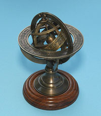 Small Solid Brass Armillary Sphere