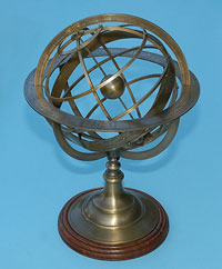 Large Solid Brass Armillary Sphere