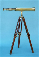 19-inch Polished Brass Telescope on Hardwood Tripod