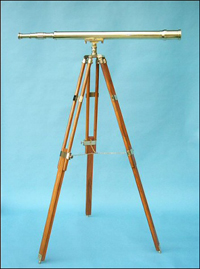 44-inch Brass Harbormaster Telescope on Teak Tripod