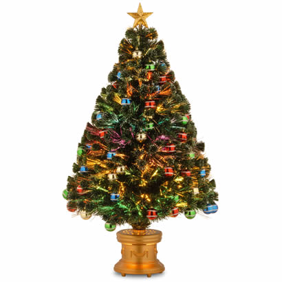48 In. Fiber Optic Fireworks Ornament Christmas Tree with Top Star