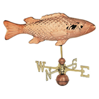 Polished Copper Cod Fish Weathervane