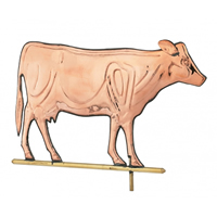 Polished Copper Cow Weathervane