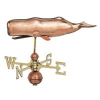 Polished Copper Sperm Whale Weathervane