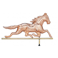 Polished Copper Race Horse Weathervane