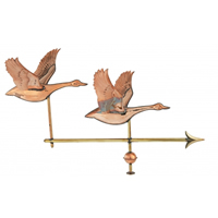 Polished Copper Double Geese Weathervane