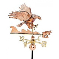 Polished Copper Eagle w/ Fish Weathervane