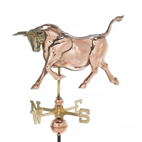 Polished Copper 3-D Bull Weathervane