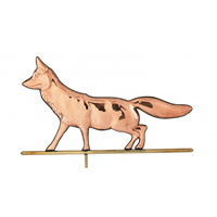 Polished Copper Fox Weathervane