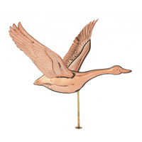 Polished Copper Flying Goose Cottage Size Weathervane