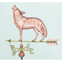 Polished Copper Wolf Weathervane