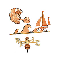 Polished Copper Sailor's Delight Weathervane