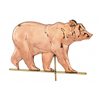 Polished Copper Bear Weathervane