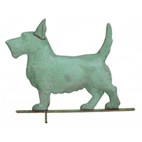 Antique Copper Scottie Dog Weathervane