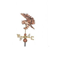 Polished Copper 3-D Flying Owl Weathervane