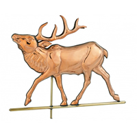 Polished Copper Elk Weathervane