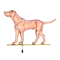 Polished Copper Labrador Retriever Weathervane
