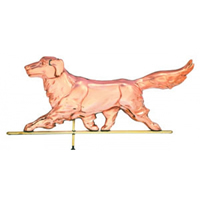 Polished Copper Golden Retriever Weathervane