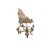 Polished Copper Hen & Chicks Weathervane