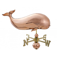 Polished Copper Whale Weathervane