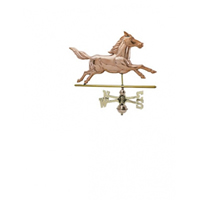 Polished Copper Running Horse Weathervane