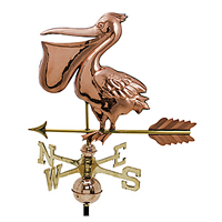 Polished Copper Pelican Weathervane
