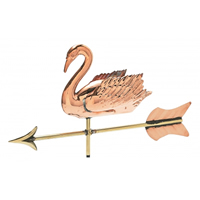 Polished Copper 3-D Swan Cottage Size Weathervane