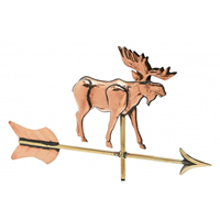 Polished Copper 3-D Moose Weathervane