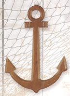 Wooden Anchor Wall Plaque