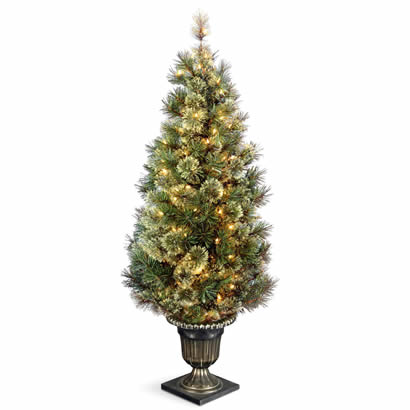5 Ft. Wispy Willow Grande Entrance Christmas Tree w/ 100 Clear Lights