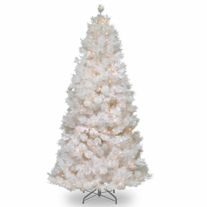7 1/2 Ft. Wispy Willow White Christmas Tree w/ 500 Frost White Lights