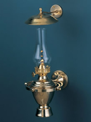 Weems & Plath Atlantic Gimbal Lamp w/ Smoke Bell