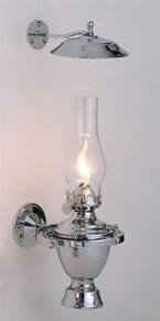 Weems & Plath Chrome Atlantic Gimbal Lamp w/ Smoke Bell