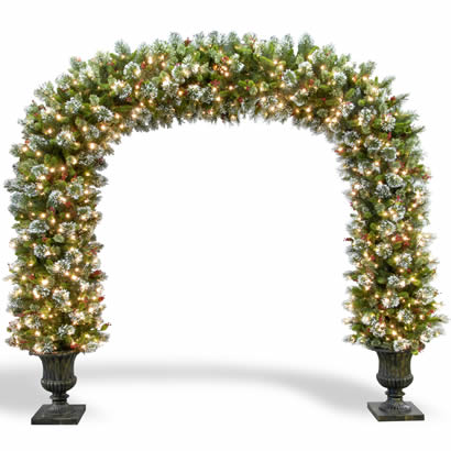 8 1/2 Ft. Pine Christmas Archway Decoration with 900 Lights