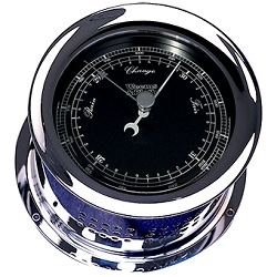 Weems & Plath Chrome Atlantis Barometer Black Dial