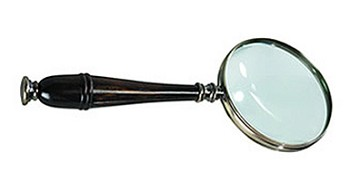 Bronzed Magnifying Glass