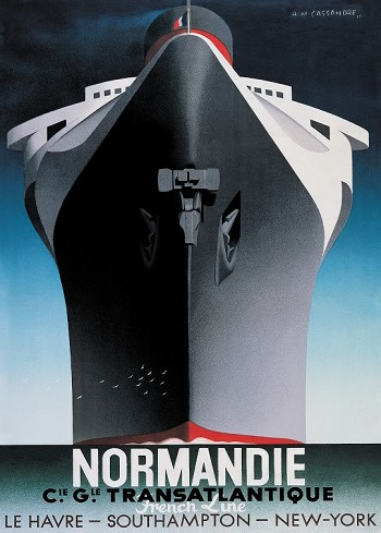 S.S. Normandie - Cassandre Print on Canvas