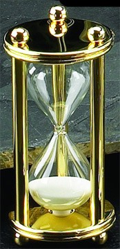 Gold 5 Minute Hourglass