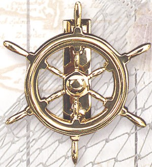 Brass Ship Wheel Door Knocker