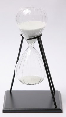 30 Minute Twisted Modern Glass Sand Timer w/ Stand