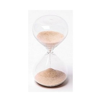 5 Minute Modern Glass Sand Timer w/ Natural Color Sand