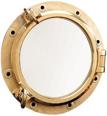 "14.25"" Heavy Duty Brass Porthole Window"
