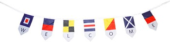 Nautical Welcome Flags